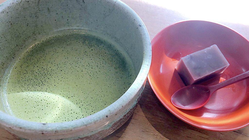 抹茶と羊羹のサービス